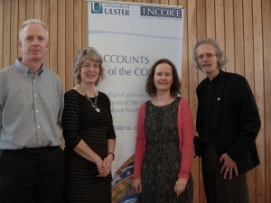 Verne Harris with members of the Accounts of the Conflict project team